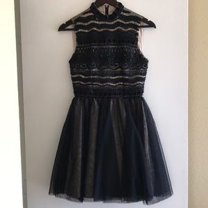Alice and Olivia black beaded dress